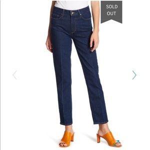 NWT PAIGE Sarah High Rise Straight Leg Jeans